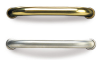 stainless steel or brass handles